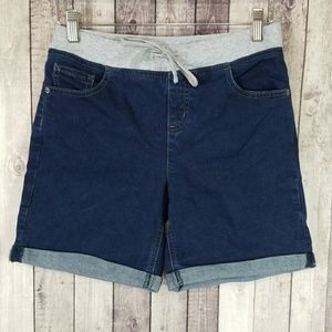 Justice pull-on denim bermuda shorts